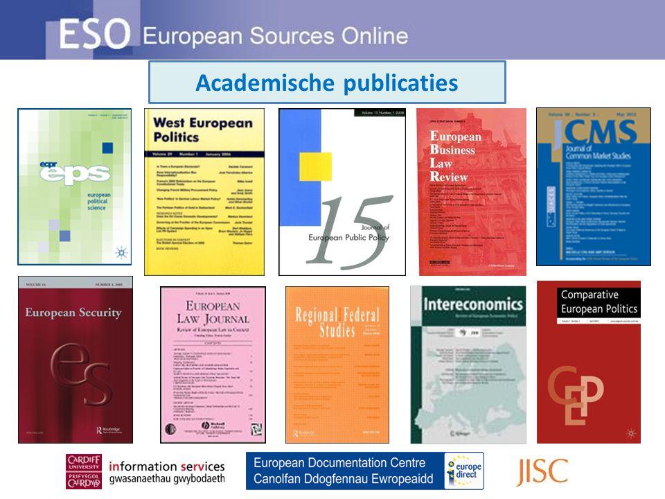 Academische publicaties