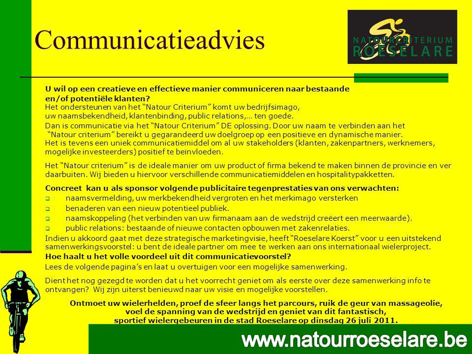 Communicatieadvies U wil op een creatieve en effectieve manier communiceren naar bestaande en/of potentiële klanten.