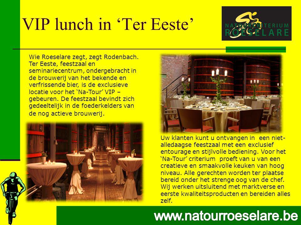 VIP lunch in 'Ter Eeste' Wie Roeselare zegt, zegt Rodenbach.