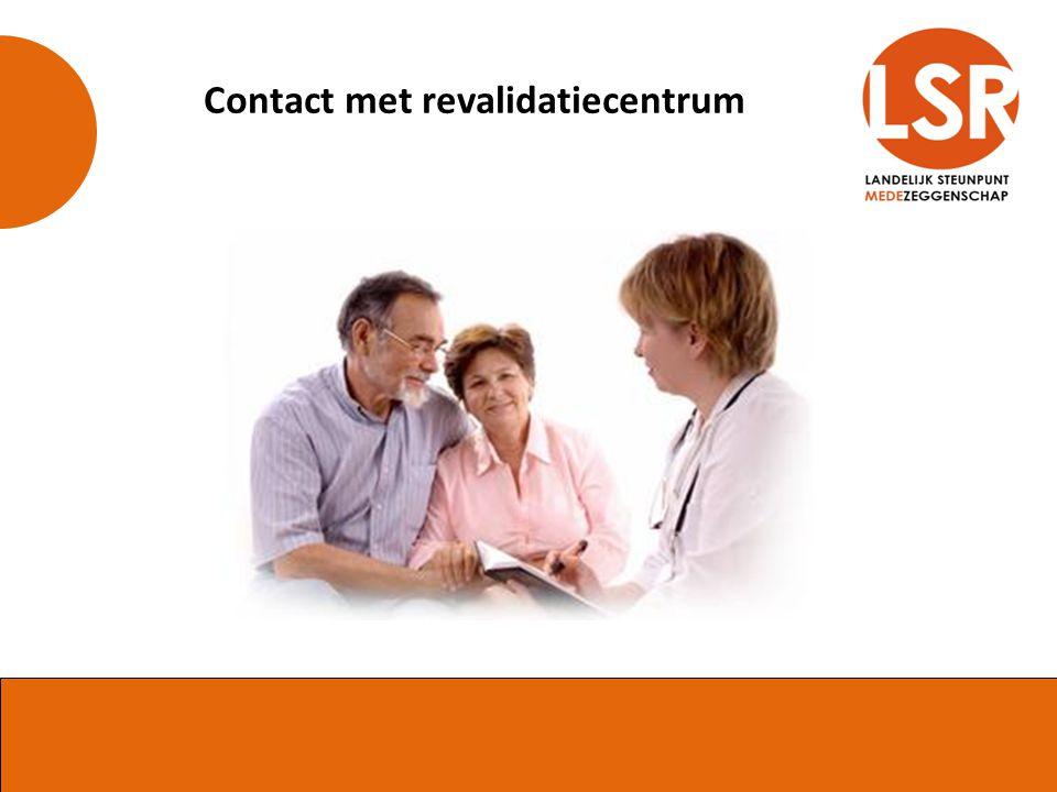 Contact met revalidatiecentrum