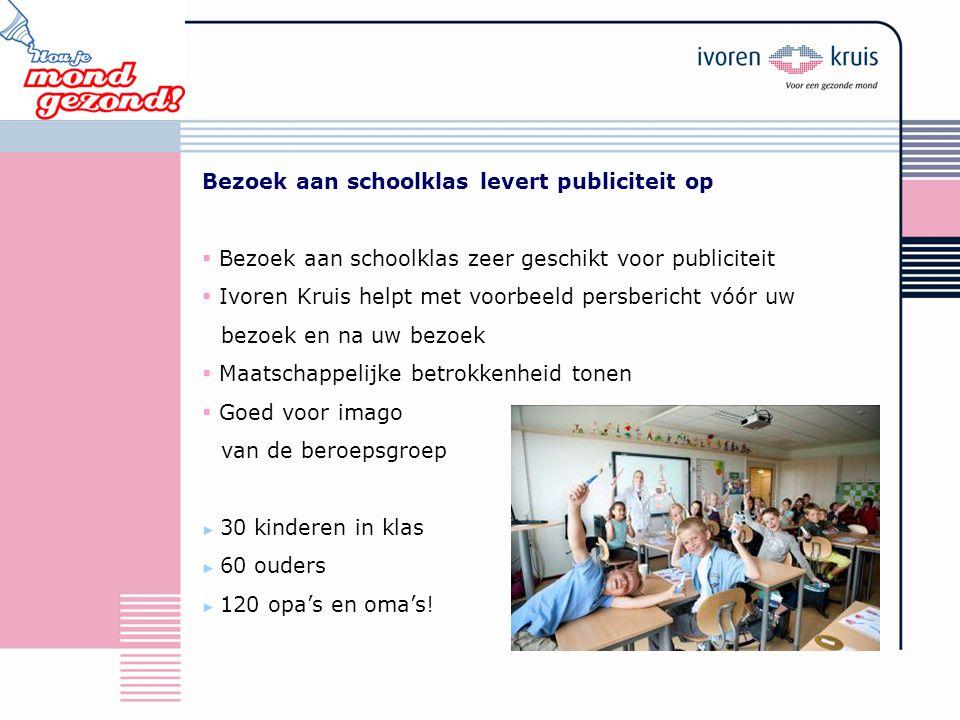 Bezoek aan schoolklas levert publiciteit op  Bezoek aan schoolklas zeer geschikt voor publiciteit  Ivoren Kruis helpt met voorbeeld persbericht vóór