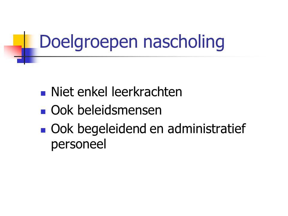 Regionaal Expertisenetwerk Vlaanderen (REN) Voor directie, beleidsondersteunend personeel, leerkrachten en ICT- coördinatoren van: - Gewoon en buitengewoon basisonderwijs - Gewoon en buitengewoon SO - Centra volwassenenonderwijs - Deeltijds kunstonderwijs - Basiseducatie - CLB - Lerarenopleiding (geen docenten van andere departementen van het hoger onderwijs)