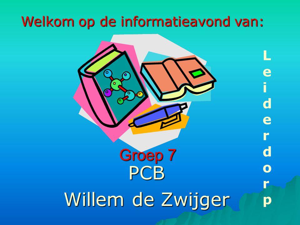 Groep 7 PCB Willem de Zwijger LeiderdorpLeiderdorp Welkom op de informatieavond van: