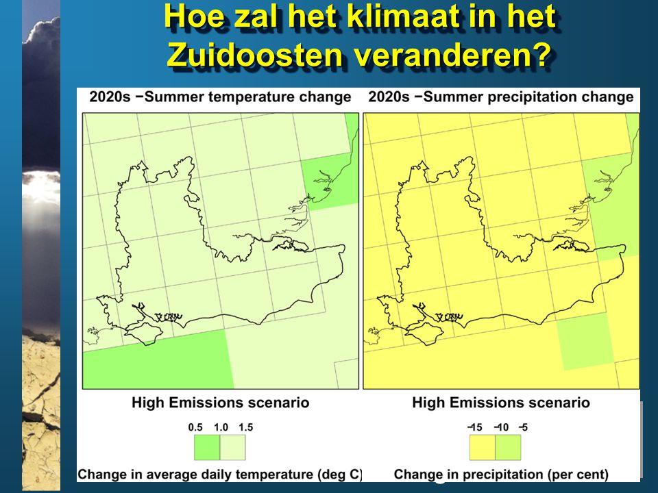 www.climatesoutheast.org.uk Hoe zal het klimaat in het Zuidoosten veranderen?