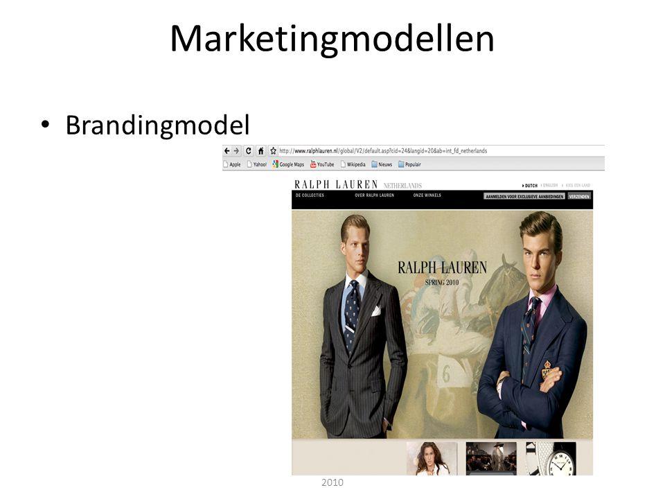 Interactieve marketing - Janssen, Van Reijsen en Zweers © Pearson Education 2010 Marketingmodellen • Brandingmodel