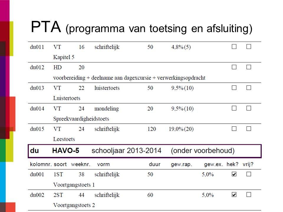 PTA chrono- logisch