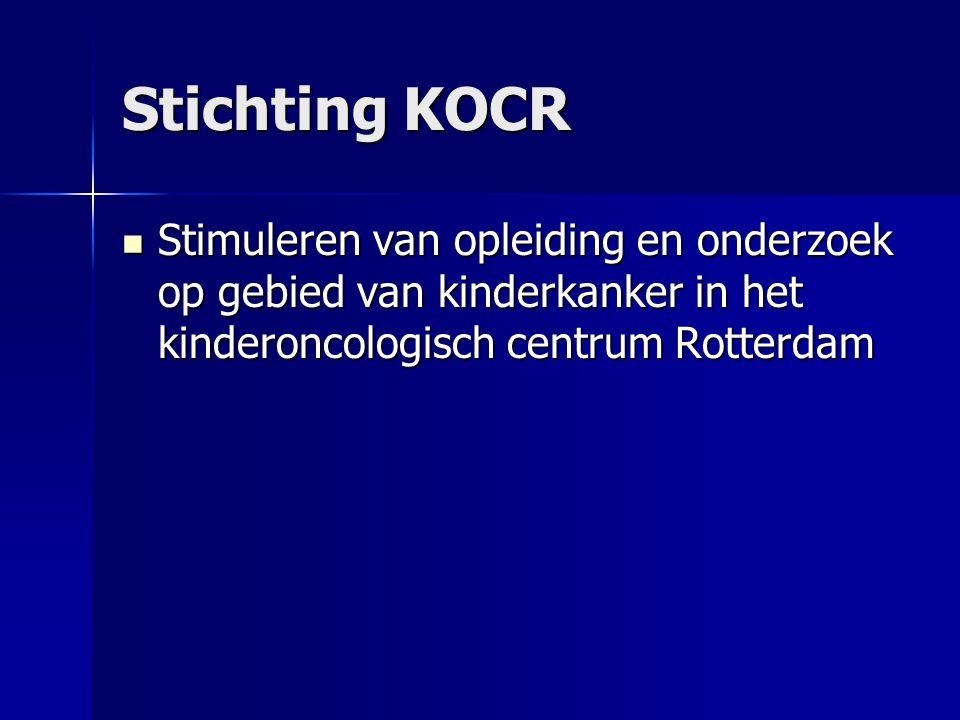 Stichting KOCR  Stimuleren van opleiding en onderzoek op gebied van kinderkanker in het kinderoncologisch centrum Rotterdam