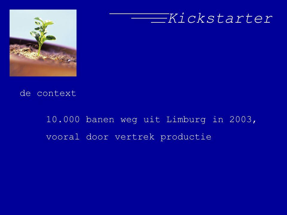 Kickstarter de context 10.000 banen weg uit Limburg in 2003, vooral door vertrek productie