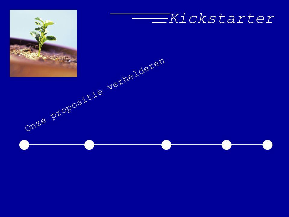Kickstarter Onze propositie verhelderen