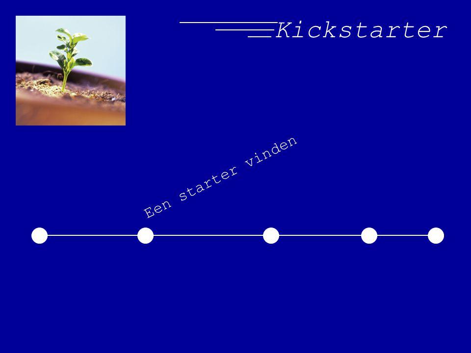 Kickstarter Een starter vinden