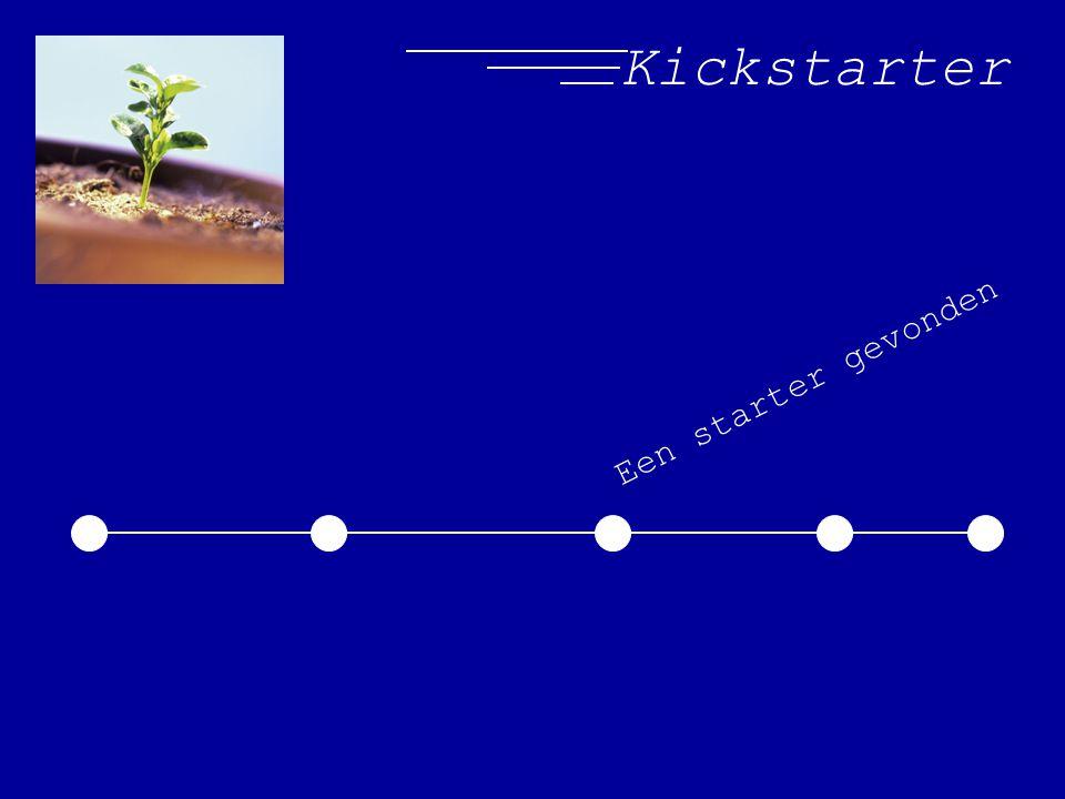 Kickstarter Een starter gevonden