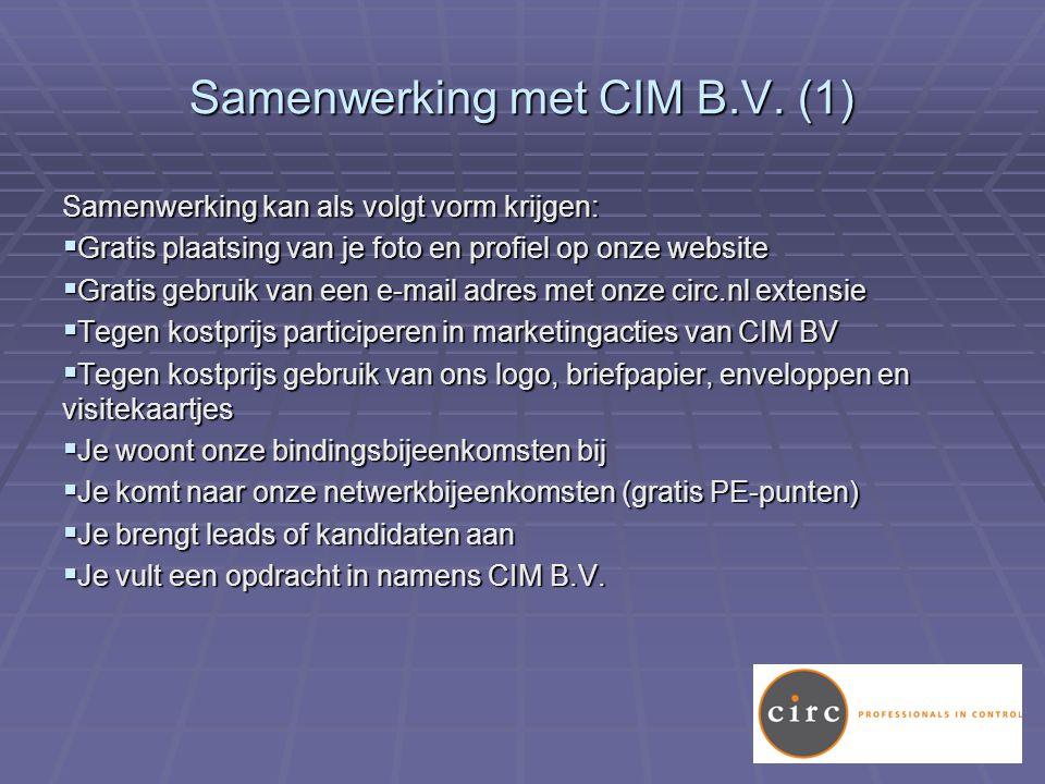 Samenwerking met CIM B.V.