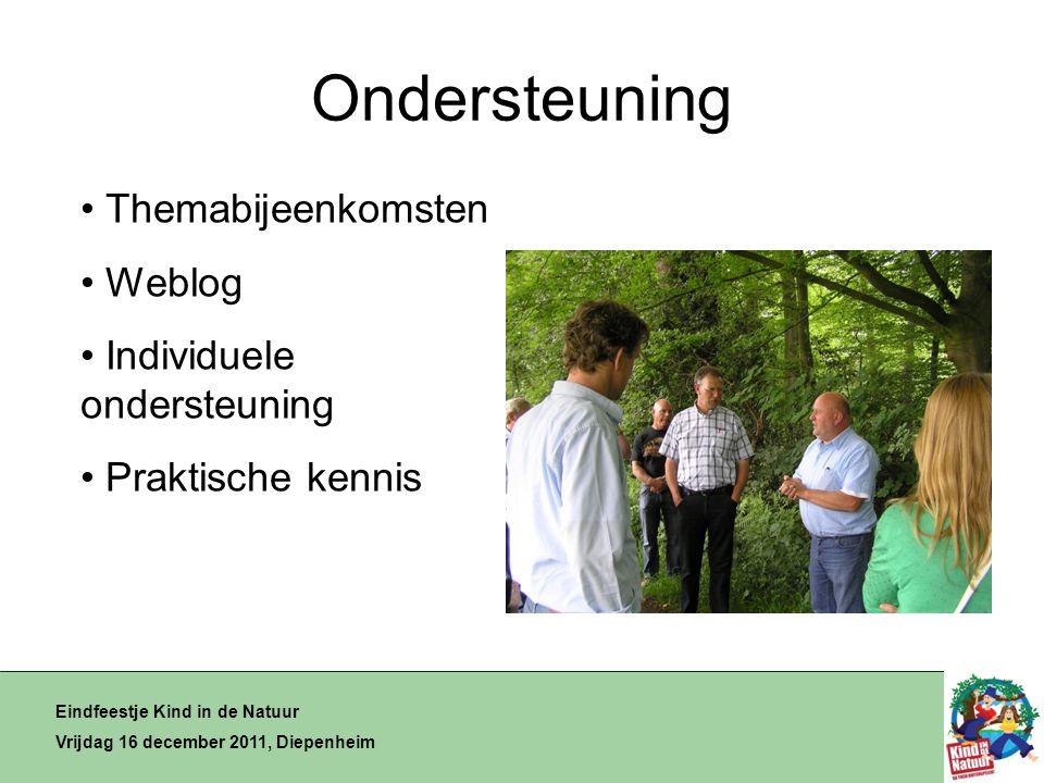 Ondersteuning Eindfeestje Kind in de Natuur Vrijdag 16 december 2011, Diepenheim • Themabijeenkomsten • Weblog • Individuele ondersteuning • Praktische kennis