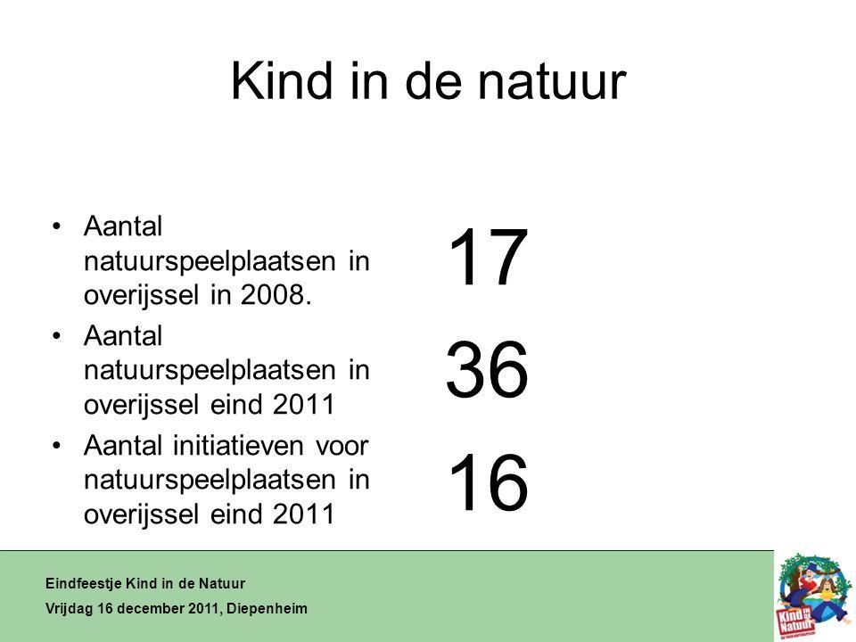 Kind in de natuur •Aantal natuurspeelplaatsen in overijssel in 2008.