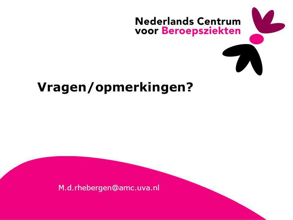 26 M.d.rhebergen@amc.uva.nl Vragen/opmerkingen?