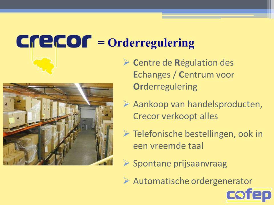 = Orderregulering  Centre de Régulation des Echanges / Centrum voor Orderregulering  Aankoop van handelsproducten, Crecor verkoopt alles  Telefonis