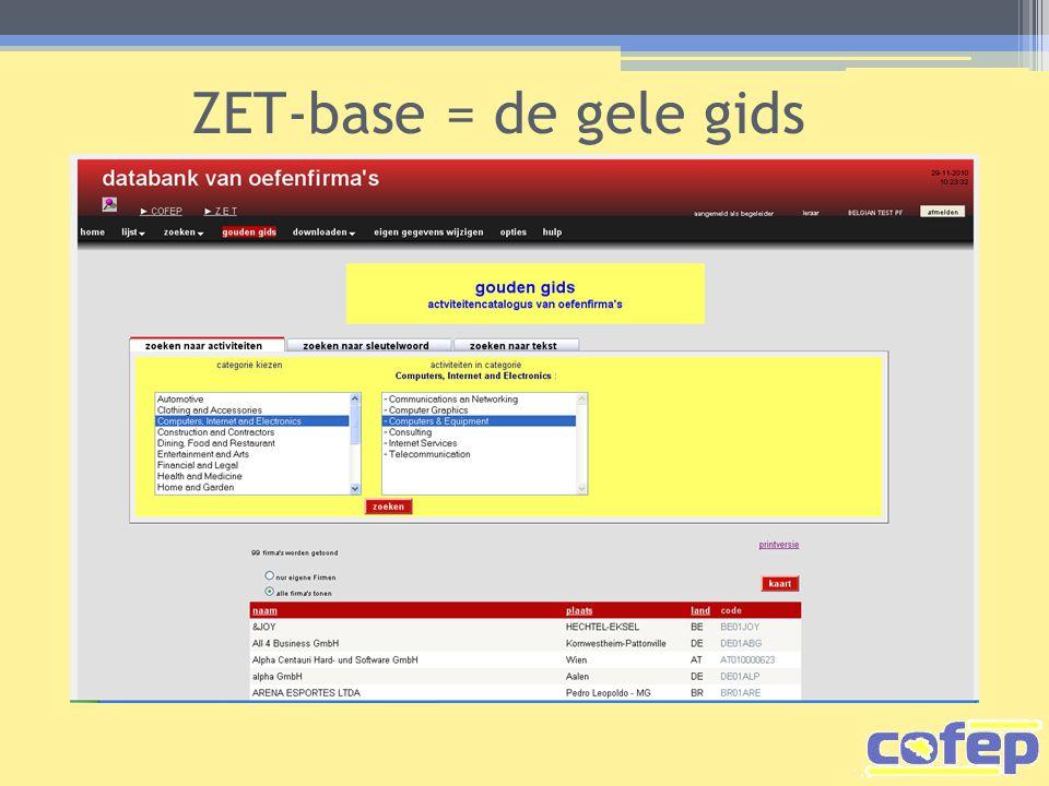 ZET-base = de gele gids