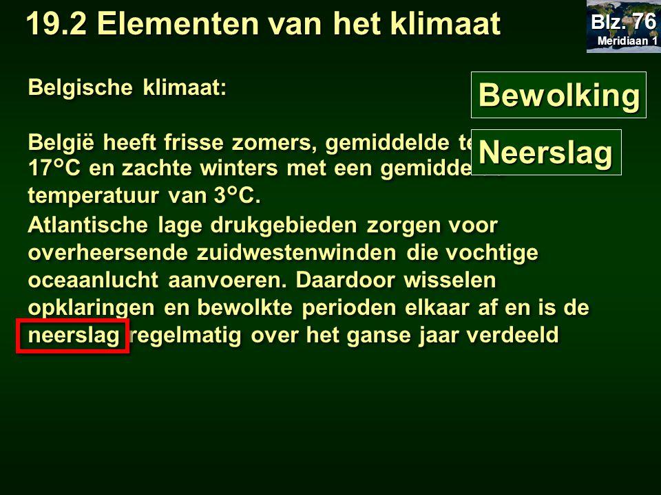 Bewolking Belgische klimaat: België heeft frisse zomers, gemiddelde temperatuur 17°C en zachte winters met een gemiddelde temperatuur van 3°C.