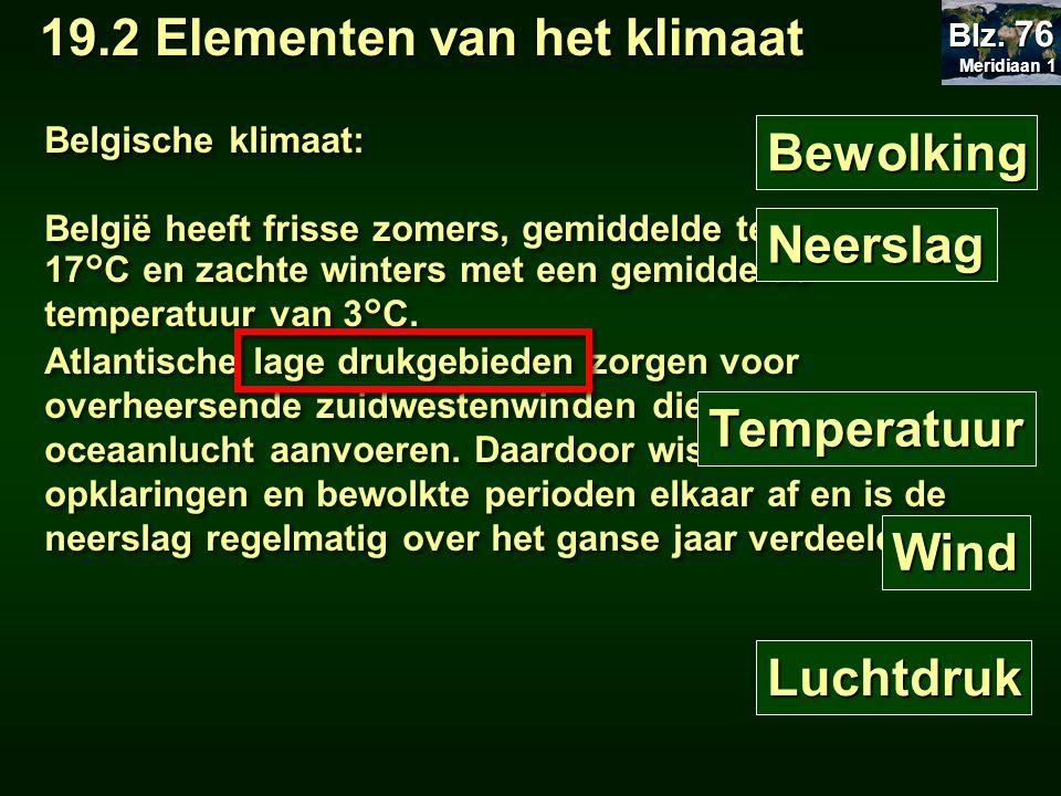 Belgische klimaat: België heeft frisse zomers, gemiddelde temperatuur 17°C en zachte winters met een gemiddelde temperatuur van 3°C. Atlantische lage