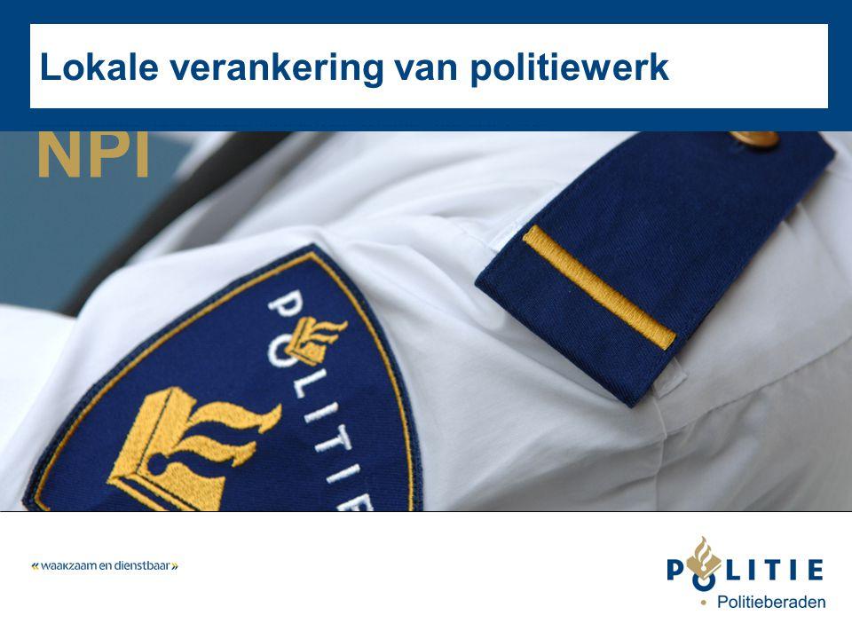 NPI Lokale verankering van politiewerk