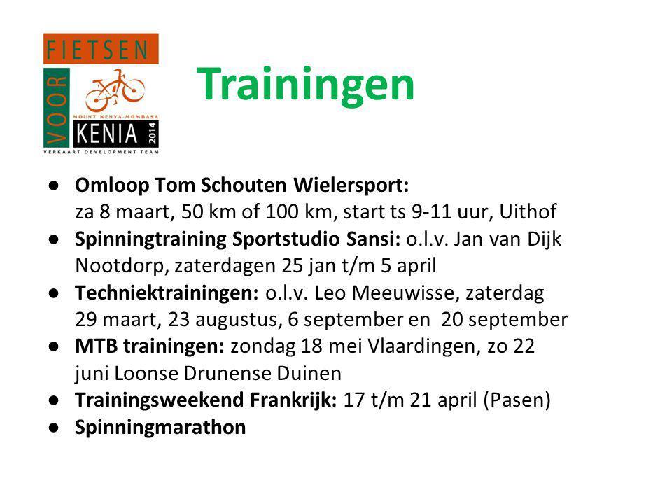 ●Omloop Tom Schouten Wielersport: za 8 maart, 50 km of 100 km, start ts 9-11 uur, Uithof ●Spinningtraining Sportstudio Sansi: o.l.v.