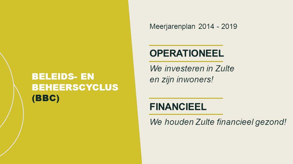 Meerjarenplan 2014 - 2019 OPERATIONEEL We investeren in Zulte en zijn inwoners.
