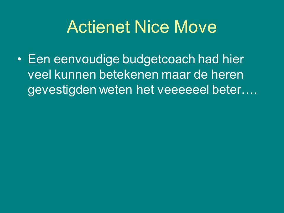 Actienet Nice Move •Een eenvoudige budgetcoach had hier veel kunnen betekenen maar de heren gevestigden weten het veeeeeel beter….