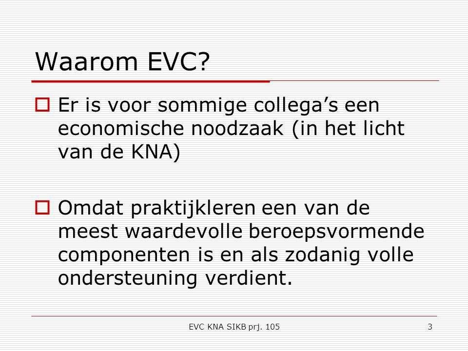 EVC KNA SIKB prj. 1053 Waarom EVC.