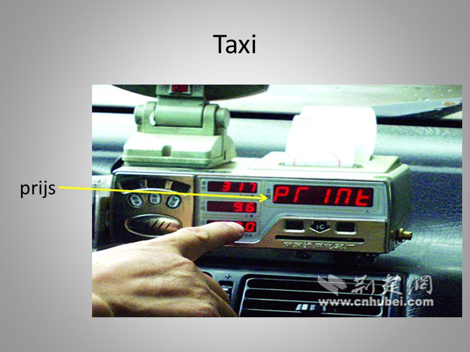 Taxi prijs