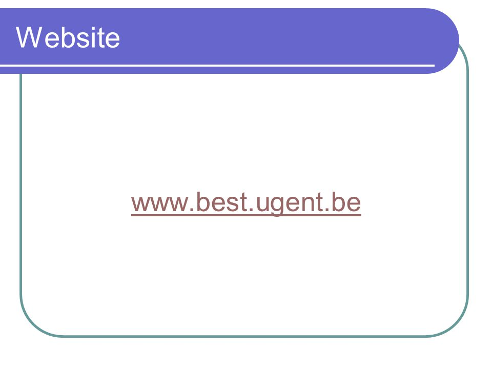 Website www.best.ugent.be