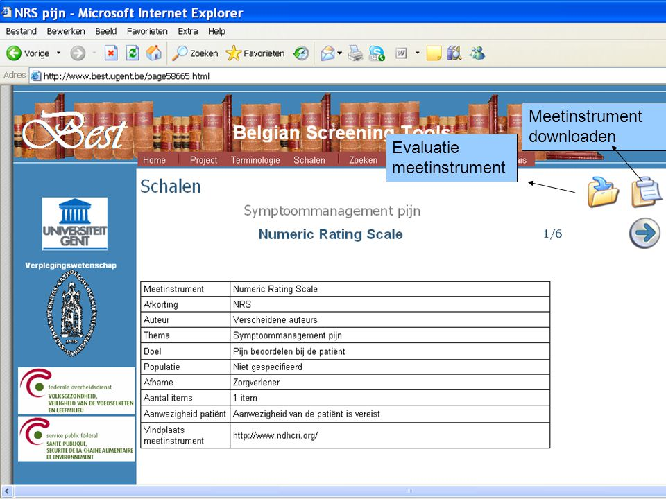 Evaluatie meetinstrument Meetinstrument downloaden