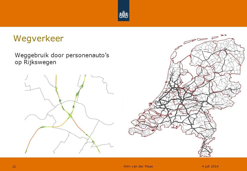 Wim van der Maas 4 juli 2014 12 Wegverkeer Weggebruik door personenauto's op Rijkswegen
