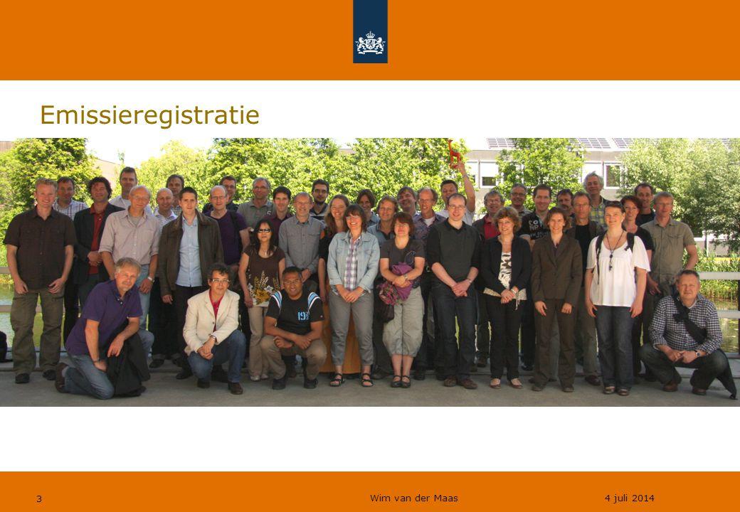 Wim van der Maas 4 juli 2014 14 Modellen ●NH 3 &N 2 O vanuit mest ●Uit en afspoeling naar water ●Transport van containerschepen ●Depositie (natte & droge) –N-depositie 1*1 km