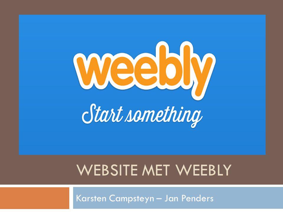 WEBSITE MET WEEBLY Karsten Campsteyn – Jan Penders