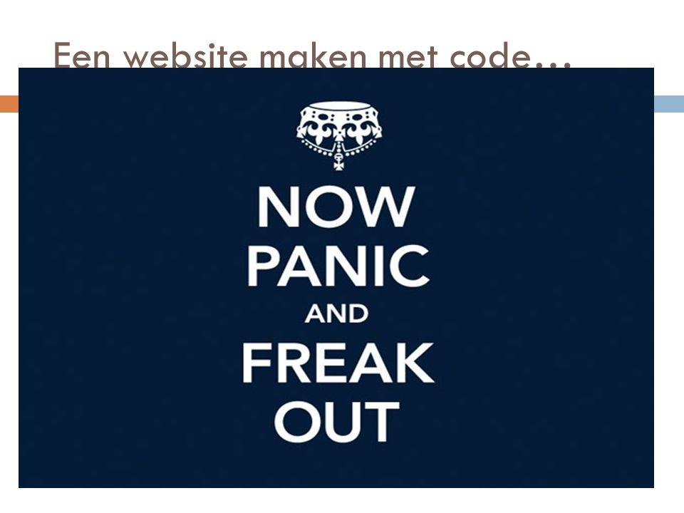 Een website maken met code…