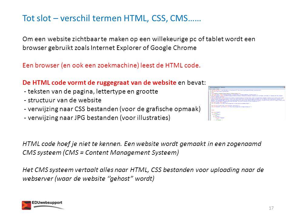 Om een website zichtbaar te maken op een willekeurige pc of tablet wordt een browser gebruikt zoals Internet Explorer of Google Chrome Een browser (en