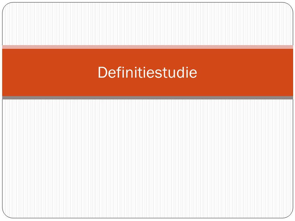 Definitiestudie