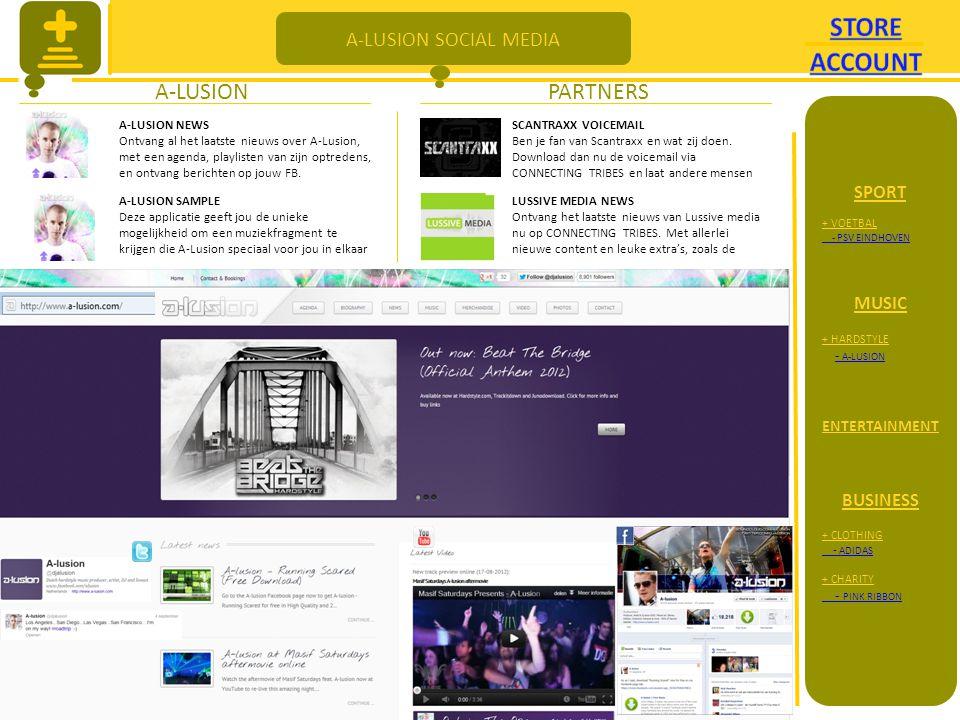 A-LUSION SOCIAL MEDIA A-LUSIONPARTNERS A-LUSION NEWS Ontvang al het laatste nieuws over A-Lusion, met een agenda, playlisten van zijn optredens, en ontvang berichten op jouw FB.