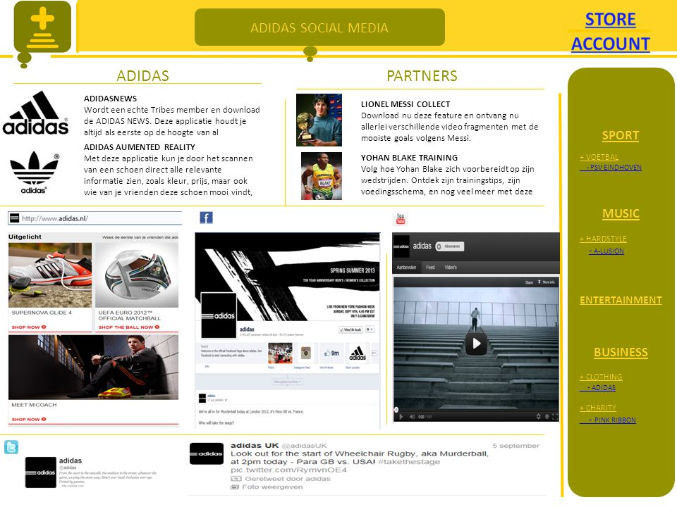 ADIDAS SOCIAL MEDIA ADIDASPARTNERS ADIDASNEWS Wordt een echte Tribes member en download de ADIDAS NEWS.