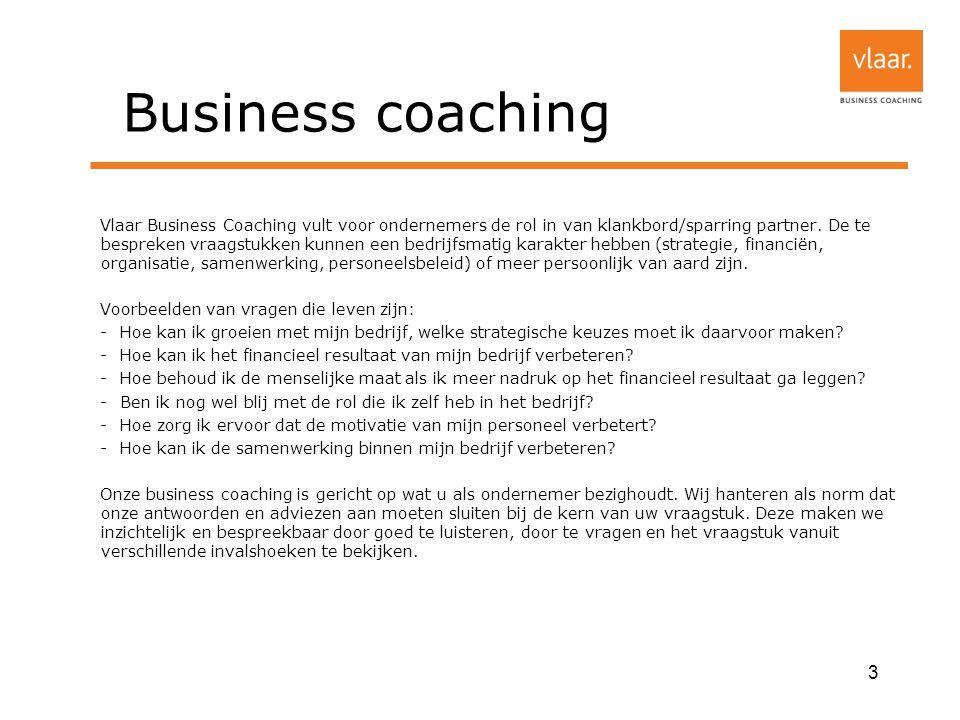 Business coaching Vlaar Business Coaching vult voor ondernemers de rol in van klankbord/sparring partner.