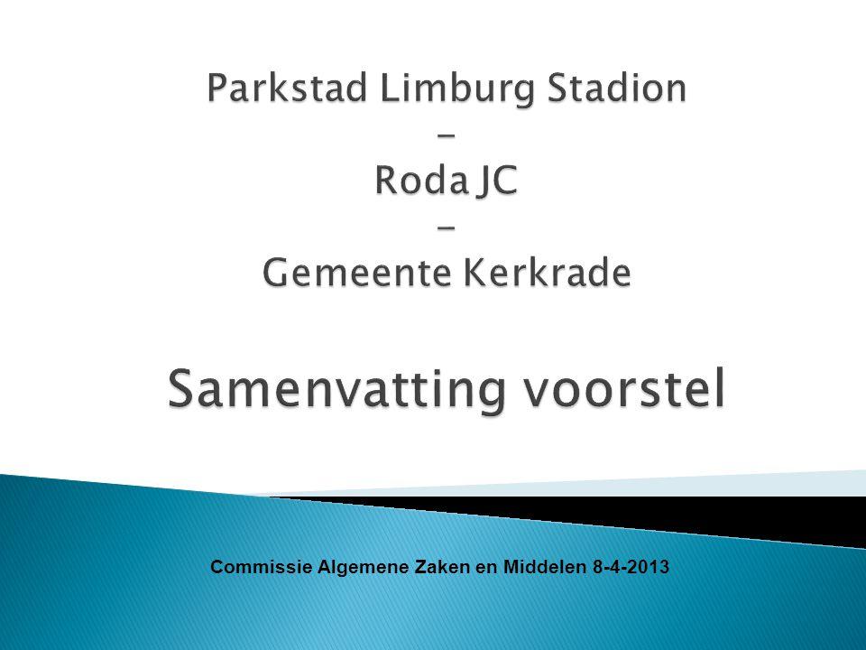 Commissie Algemene Zaken en Middelen 8-4-2013