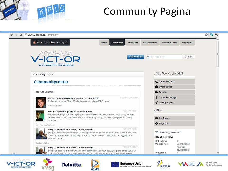Community Pagina