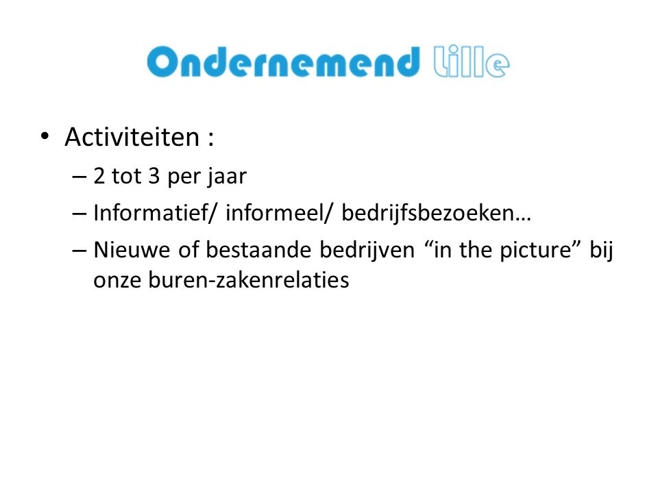 • Website en ledenregistratie : verwezenlijkt door Michiel Pauwels van iDesign .