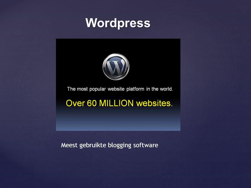 Wordpress Meest gebruikte blogging software
