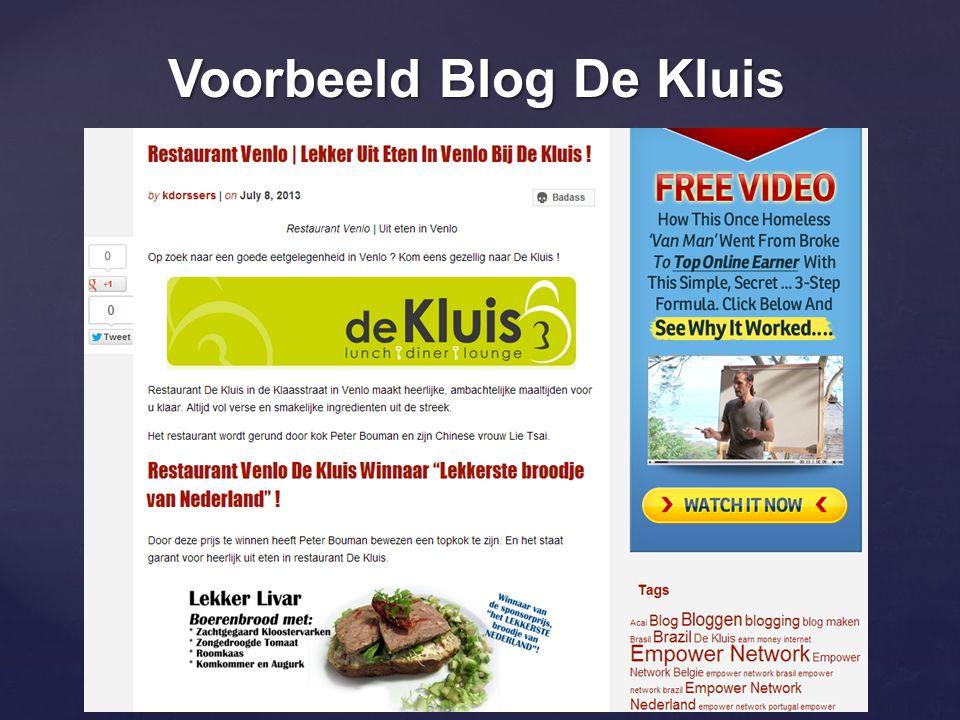 Voorbeeld Blog De Kluis