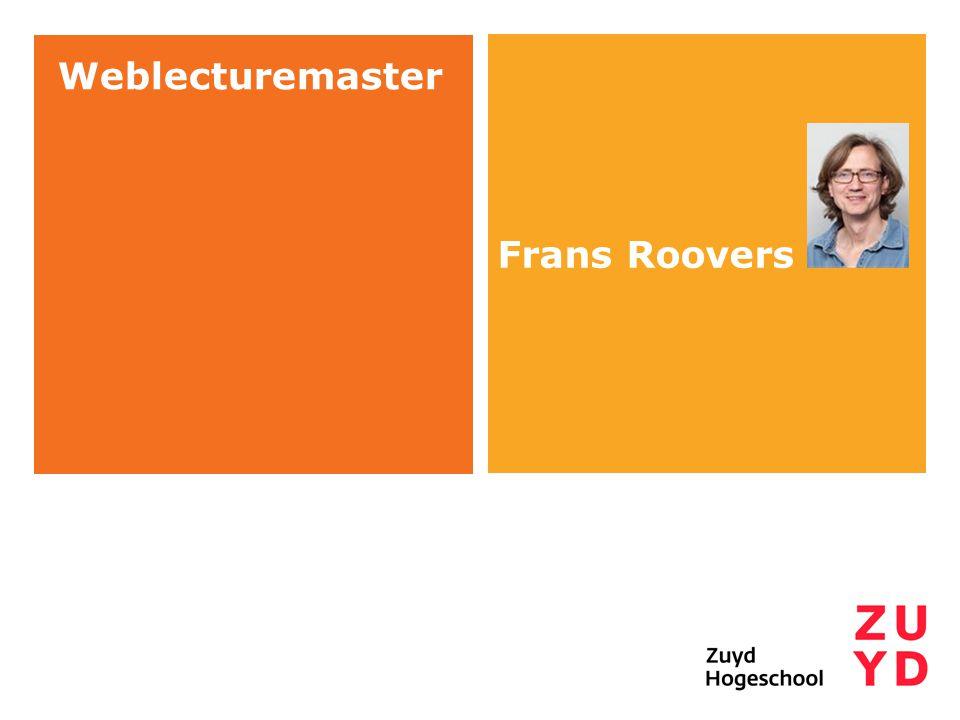 Frans Roovers Weblecturemaster