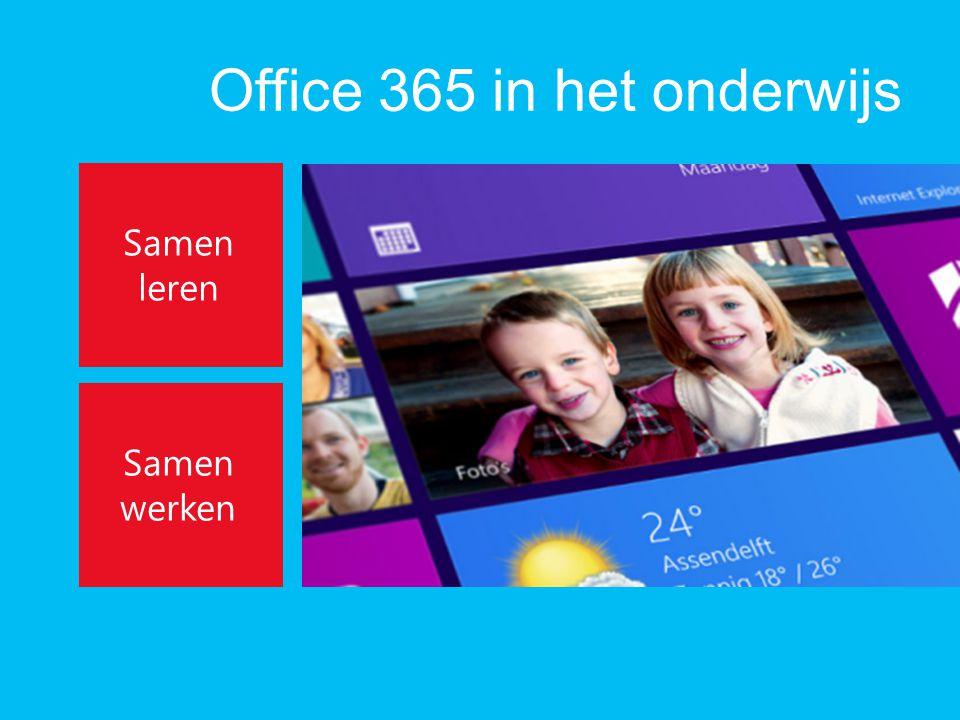 Office 365 in het onderwijs Samen leren Samen werken