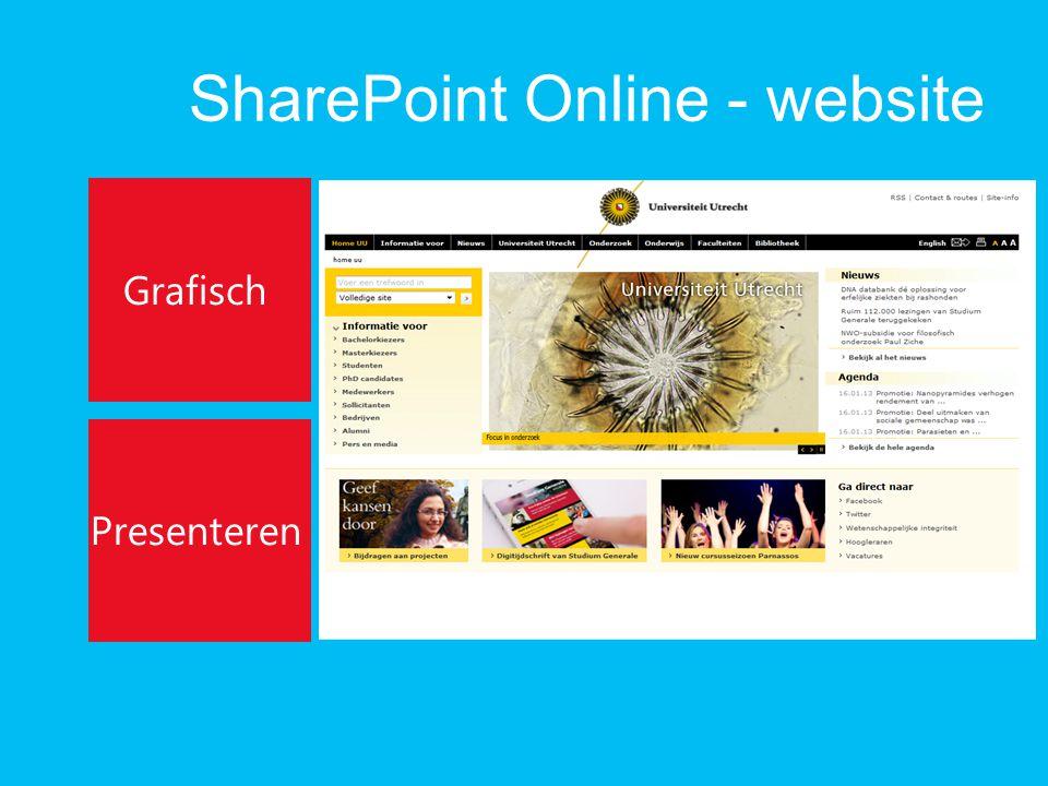 SharePoint Online - website Grafisch Presenteren