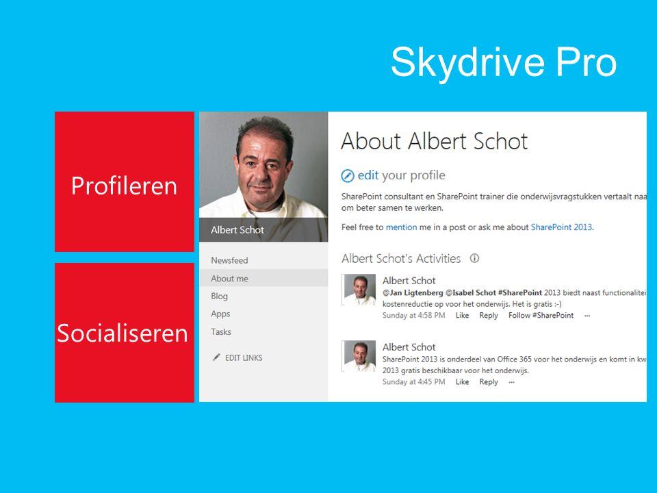 Skydrive Pro Profileren Socialiseren