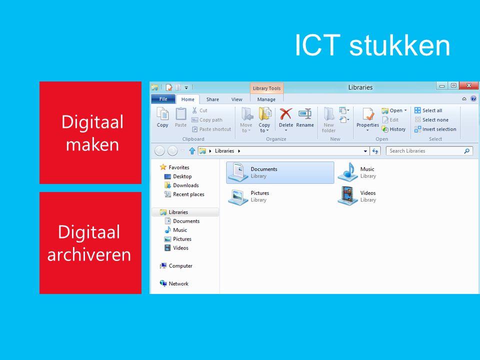 ICT stukken Digitaal maken Digitaal archiveren